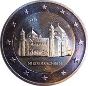 2 euros Basse-Saxe – avers