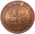 1 pfennig (Bundesrepublik Deutschland) – avers