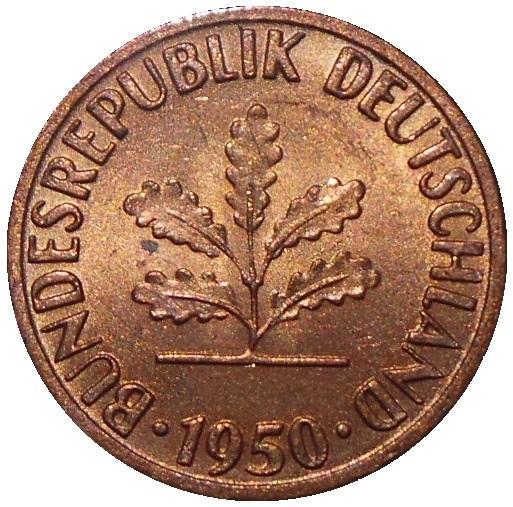 1 Pfennig Bundesrepublik Deutschland Allemagne République