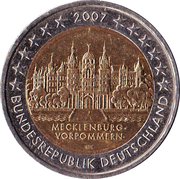 2 euros Mecklembourg-Poméranie-Occidentale -  avers