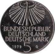 5 deutsche mark - Otto Hahn -  avers
