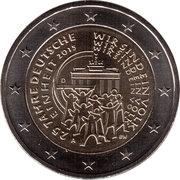2 euros Réunification allemande -  avers