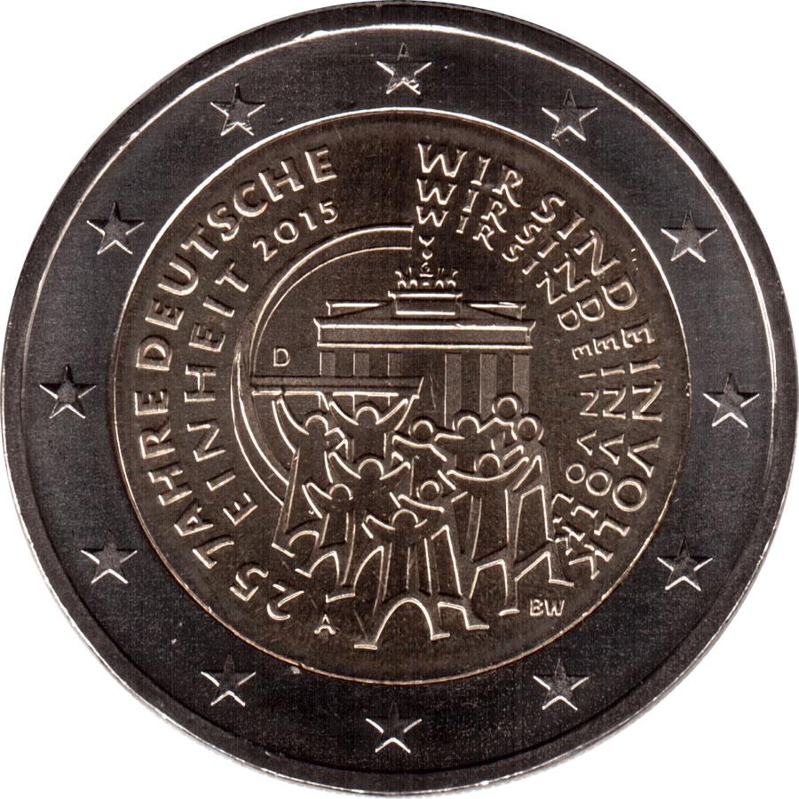 2 Euros Réunification Allemande Allemagne République Fédérale
