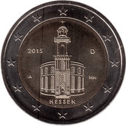 2 euros Hesse – avers