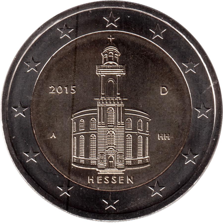 2 Euros Hesse Allemagne République Fédérale Numista