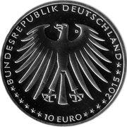 10 euros La belle au bois dormant (cupronickel) -  avers