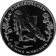 10 euros La belle au bois dormant (cupronickel) -  revers