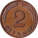2 pfennig (bronze) – revers