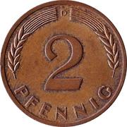2 pfennig (bronze) -  revers