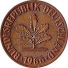 2 pfennig (bronze) – avers
