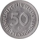 50 pfennig (Bundesrepublik Deutschland) – avers