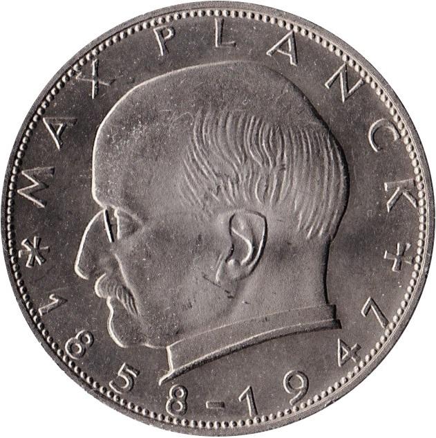 2 Deutsche Mark Max Planck Allemagne République Fédérale Numista