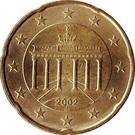 20 cents d'euro (1ère carte) – avers