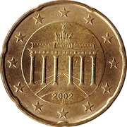 20 cents d'euro (1ère carte) -  avers
