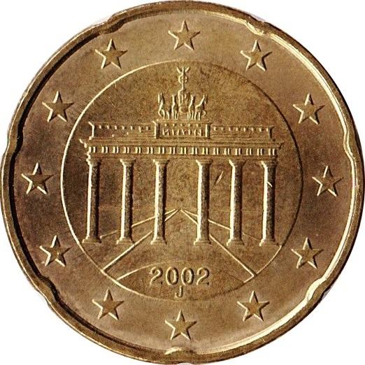 20 Cents Deuro 1ère Carte Allemagne République Fédérale Numista