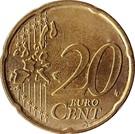 20 cents d'euro (1ère carte) – revers