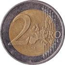 2 euros (1ère carte) – revers