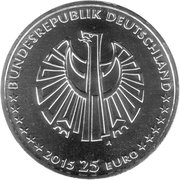 25 euros Réunification allemande -  avers