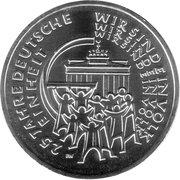 25 euros Réunification allemande -  revers