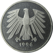 5 deutsche mark -  revers