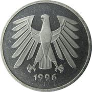 5 deutsche mark -  avers