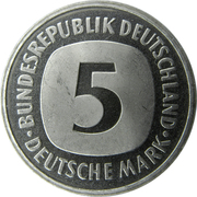 5 deutsche mark -  avers