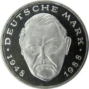 2 deutsche mark Ludwig Erhard -  revers
