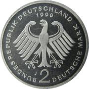 2 deutsche mark Franz Josef Strauss -  avers