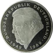2 deutsche mark Franz Josef Strauss -  revers