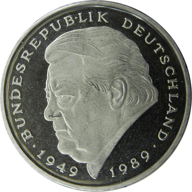 2 Deutsche Mark Franz Josef Strauss Allemagne République