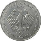 2 deutsche mark (Konrad Adenauer) – avers