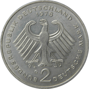 2 deutsche mark (Konrad Adenauer) – avers