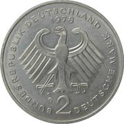 2 deutsche mark (Konrad Adenauer) -  avers