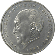 2 deutsche mark (Konrad Adenauer) – revers