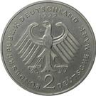 2 deutsche mark (Kurt Schumacher) – avers