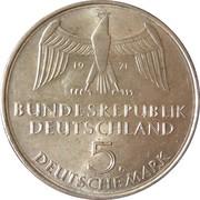 5 deutsche mark 100 ans du Deuxième Reich -  avers