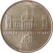 5 deutsche mark 100 ans du Deuxième Reich -  revers