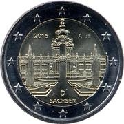 2 euros Saxe -  avers