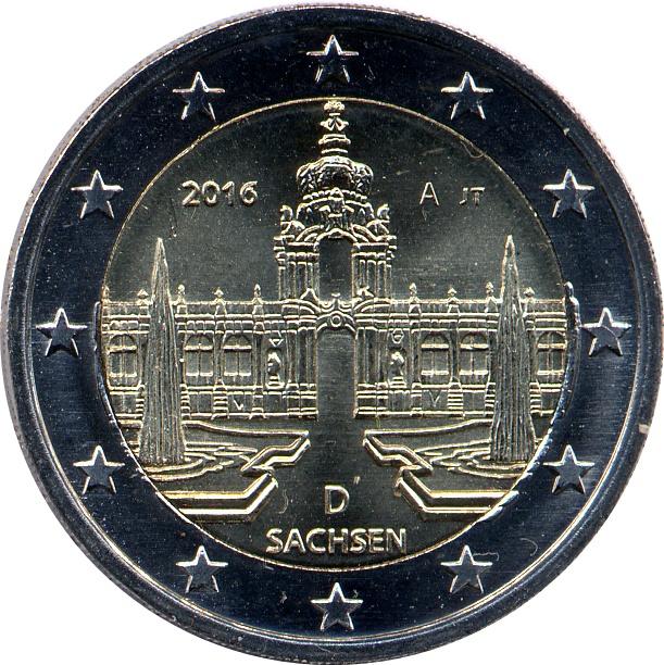 2 Euros Saxe Allemagne République Fédérale Numista