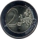 2 euros Saxe – revers