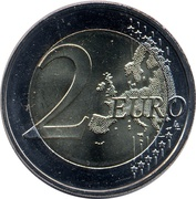 2 euros Saxe -  revers