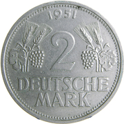 2 deutsche mark – revers