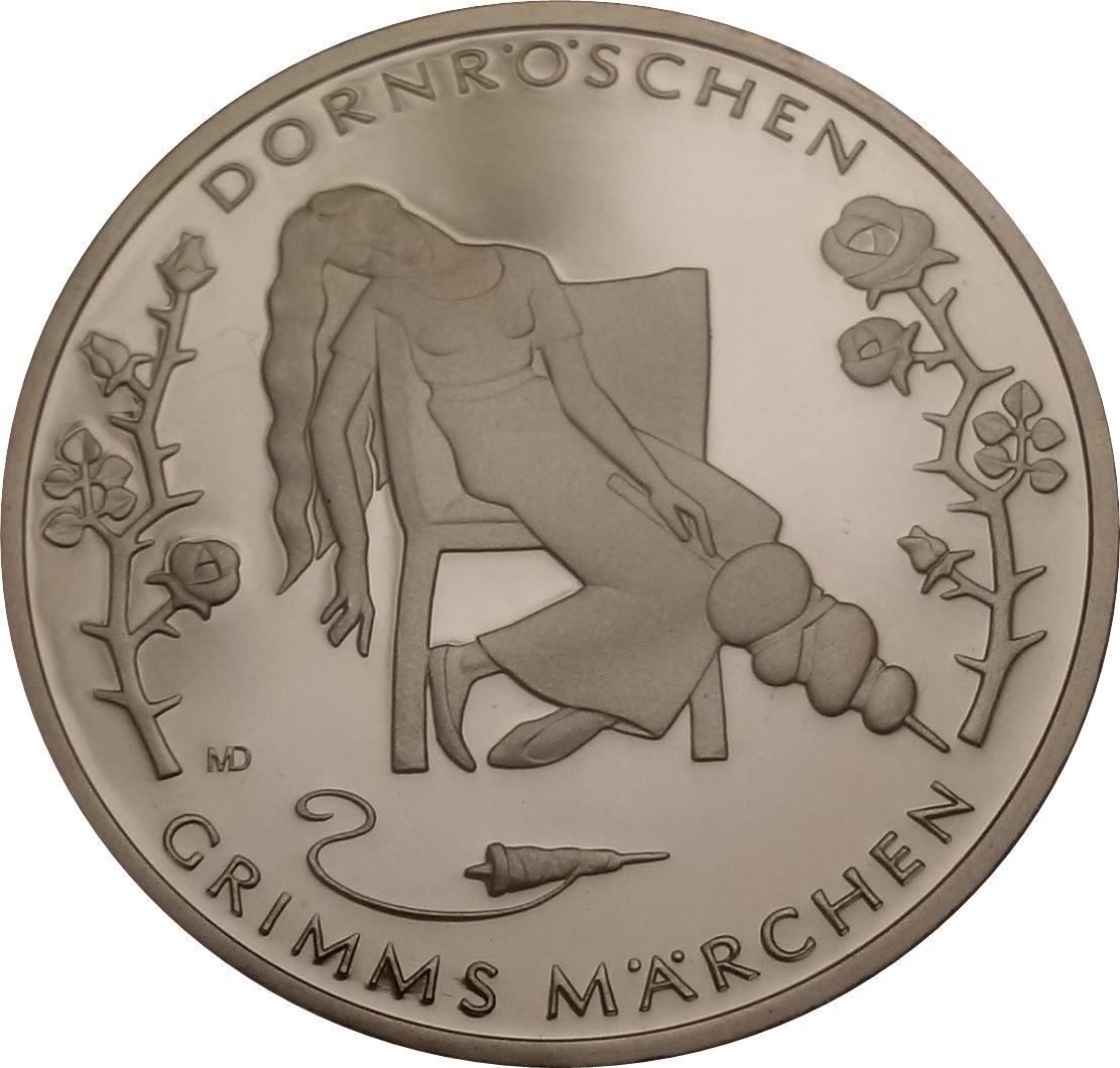10 Euros La Belle Au Bois Dormant Argent Allemagne République