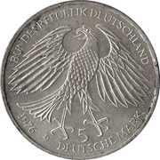 5 deutsche mark - Hans Jacob Cristoph - von Grimmelshausen -  avers