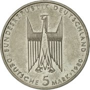 5 deutsche mark - Kölner Dom -  avers