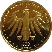 100 euros Monuments de Luther à Eisleben et Wittenberg – avers