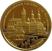100 euros Monuments de Luther à Eisleben et Wittenberg – revers