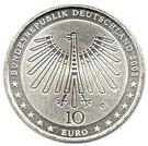 10 euros Gottfried Semper – avers