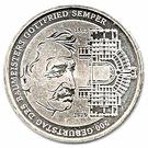 10 euros Gottfried Semper – revers