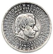 10 euros Friedrich Von Schiller – revers